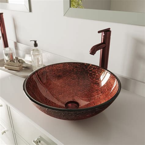 Giovanni Glass Circular Vessel Bathroom Sink