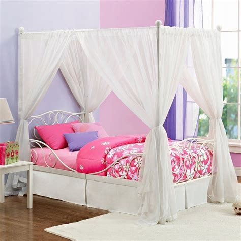 Girls Twin Canopy Bed Plans
