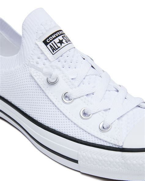 Girls White Converse Sneakers