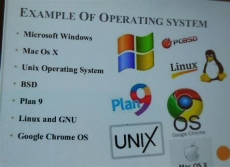 Give Some Examples Of Operating System