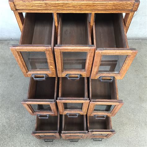 Glass Front Drawer Cabinet