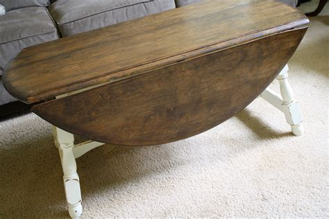 Glass Top Drop Leaf Coffee Table Woodworking Plans