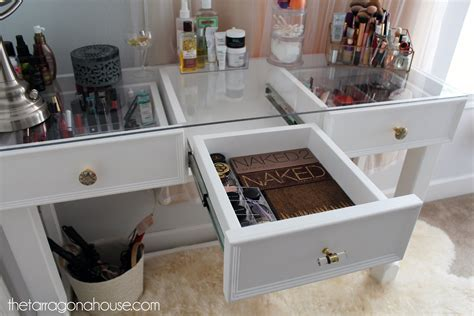 Glass Top Vanity Table DIY