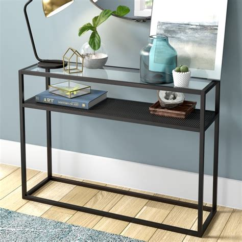 Glass Top Wood Console Table Plans