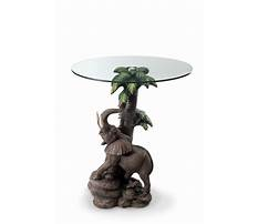 Best Glass end tables with elephant