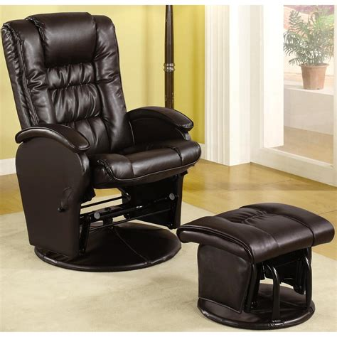 Glider Recliner And Ottoman Set