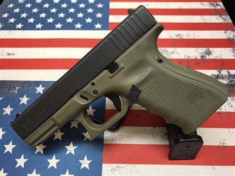 Glock 19 Gen 4 Green And Tan And Glock 19 Gen 4 Silencer