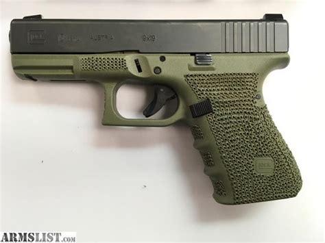 Glock 19 Shadow Od Green And Glock 19 Stippling Tool