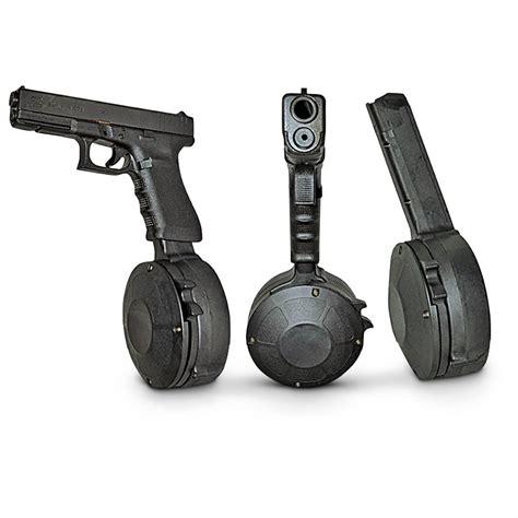 Glock 50 Round Drum Magazine For Sale And Glock 9mm Handgun Reviews