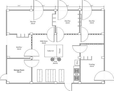 Goat-And-Cow-Barn-Floor-Plans