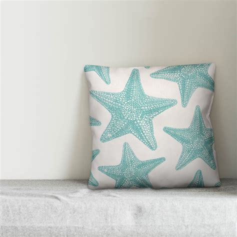 Godfrey Starfish Outdoor Throw Pillow