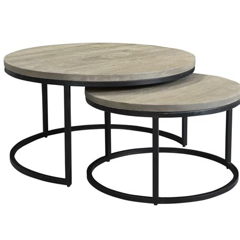 Godinez Iron 2 Piece Nesting Tables