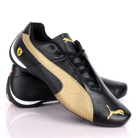 Gold And Black Puma Sneakers
