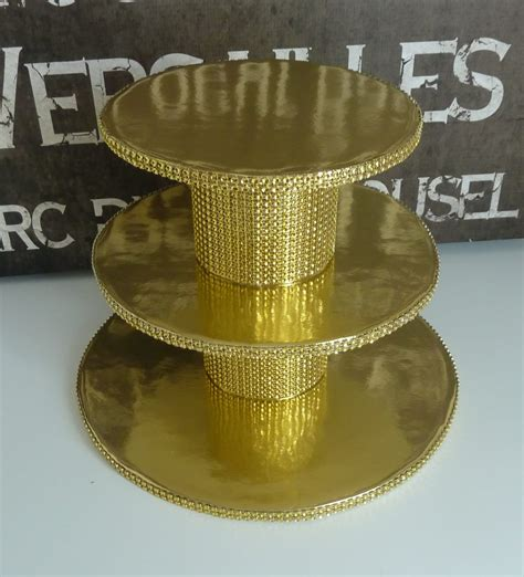 Gold Cupcake Stand Diy With Bride