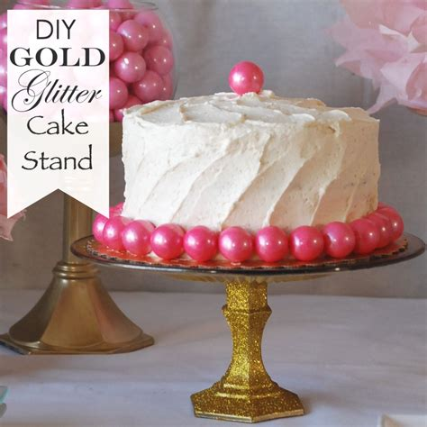 Gold Square Cake Stand Diy Dollar