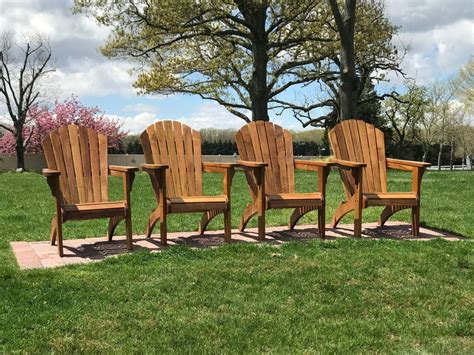 Golden-Teak-Adirondack-Chairs