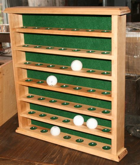 Golf Ball Display Rack Woodworking Plans