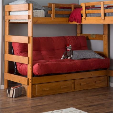 Good Price For Wooden Bunk Bed Futon