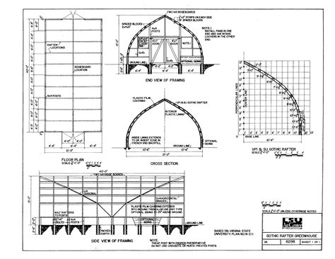 Gothic-Rafter-Greenhouse-Plans