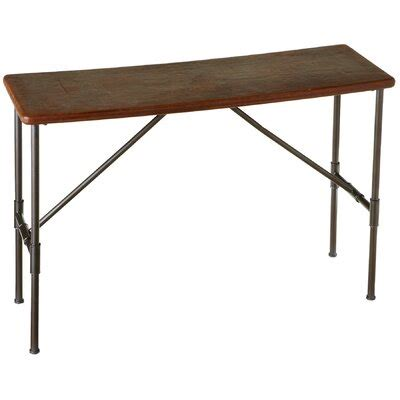 Gracelynn Leather Top Console Table By Breakwater Bay