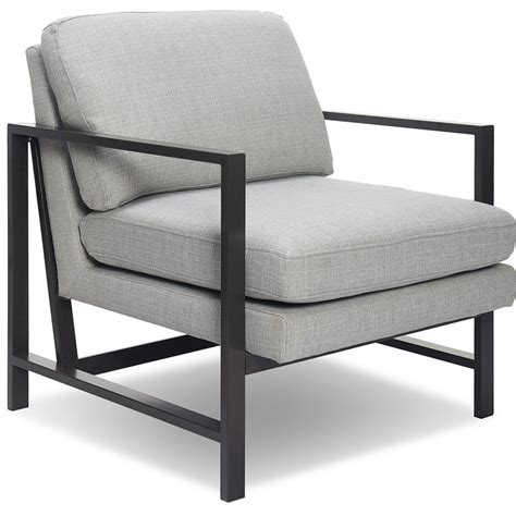 Gray And Metal Accent Chair