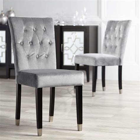 Gray Armless Dining Chair