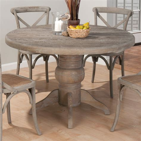 Gray Distressed Wood Dining Table