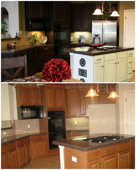 Gray Gel Stain Kitchen Cabinets