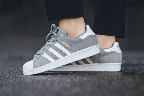 Gray Suede Sneakers Adidas
