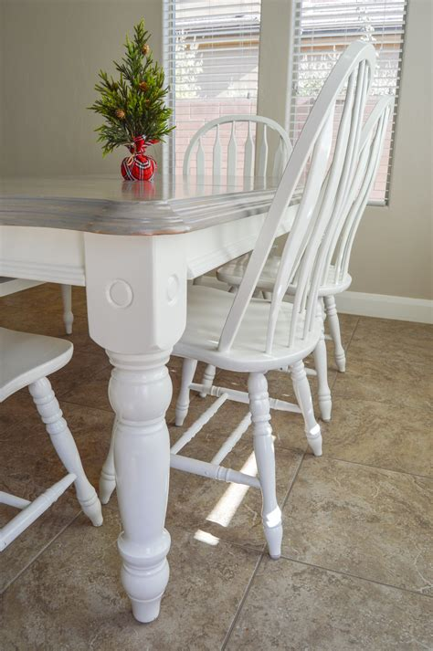 Gray Wash Dining Table Diy
