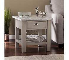 Best Gray faux marble coffee and end tables