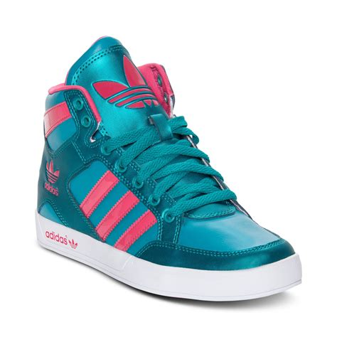 Green Adidas High Top Sneakers