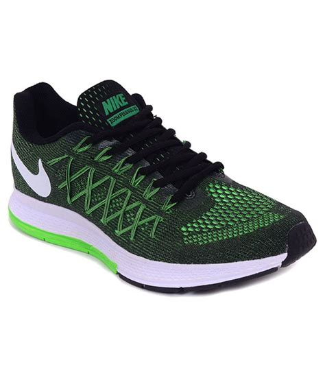Green And Black Nike Sneakers