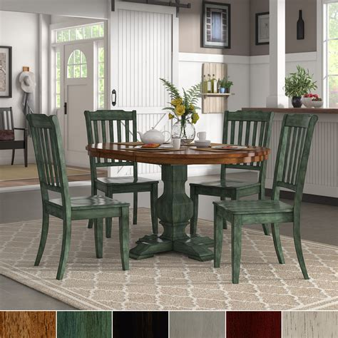 Green Dining Chairs And Table