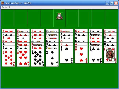 Green Felt Freecell Card Game