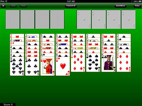 Green Felt Freecell Cell