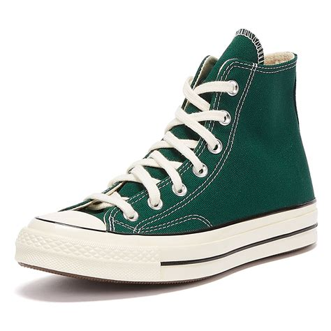 Green High Top Converse Sneakers