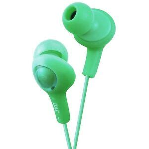 Green JVC Gumy Plus Inner-Ear Earbuds ( 10 PACK ) BY NETCNA