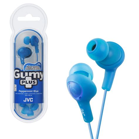 Green JVC Gumy Plus Inner-Ear Earbuds ( 3 PACK ) BY NETCNA