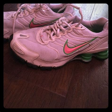 Green Nike Check Mark Sneakers
