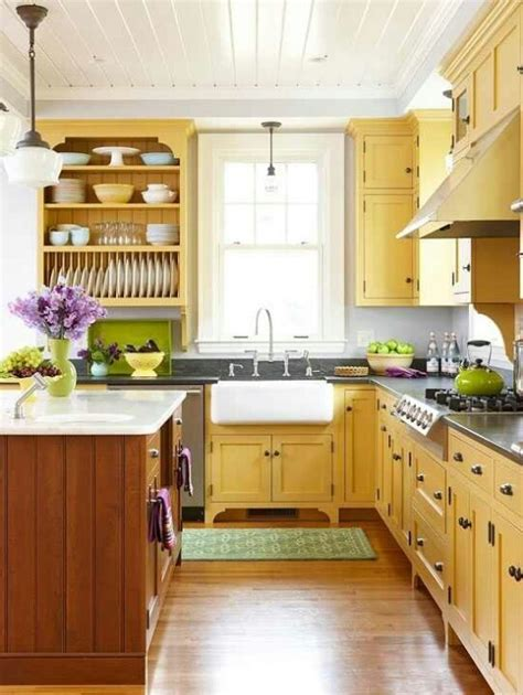 Green Yellow Kitchen Decorating Ideas