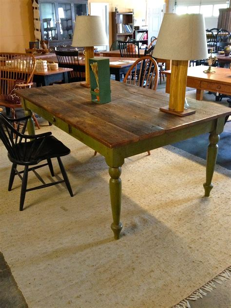 Green-And-Wood-Chairs-Farmhouse-Table
