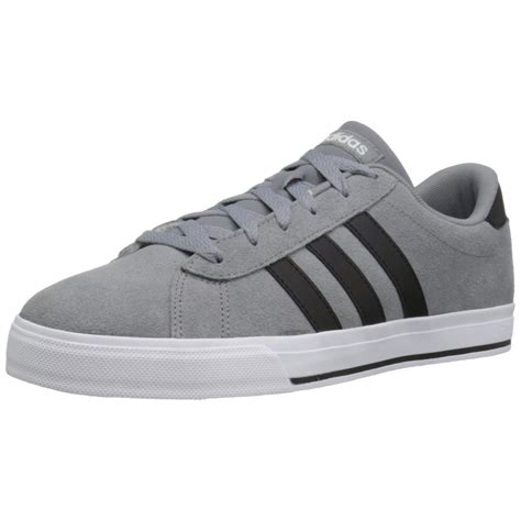 Grey Adidas Sneakers With Black Stripes