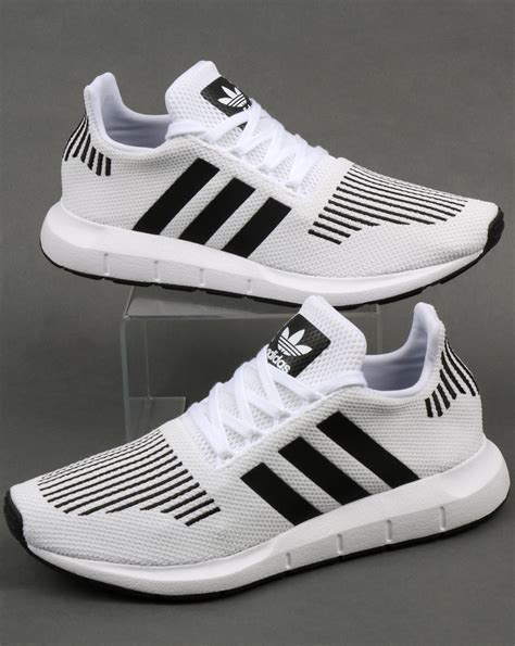 Grey Adidas Sneakers With White And Black