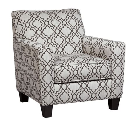 Grey And White Pattern Accent Chair