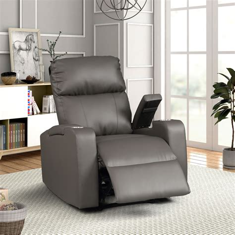 Grey Electric Recliner Chair