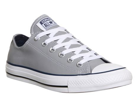 Grey Lether Converse Sneakers