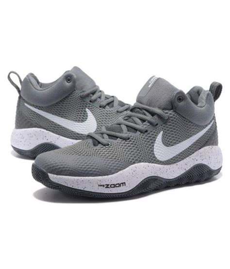 Grey Nike Basketball Sneakers