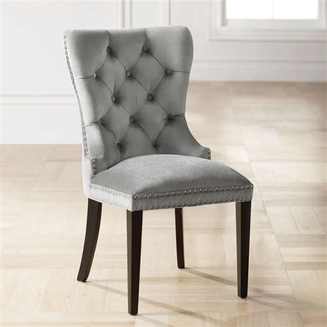 Grey Velvet Chairs Dining