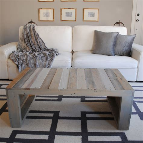 Grey Wash Wood Coffee Table Diy With Crates